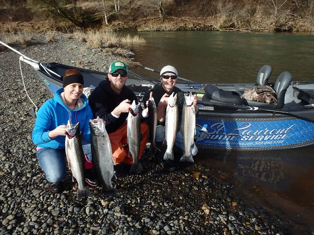 Winter Steelhead Catch - North Oregon Coast - St. Laurent Guide Service