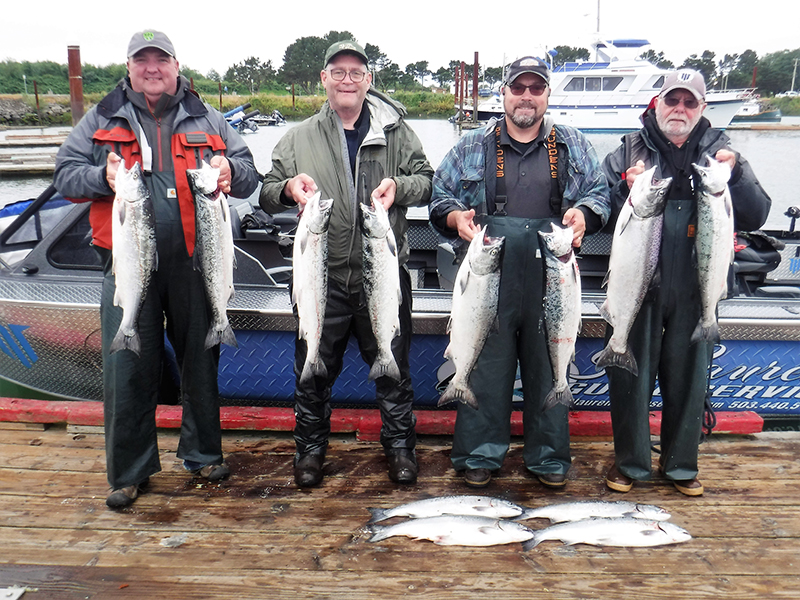 ocean salmon, summer king salmon - catch of the day